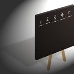zwart schrijfbord