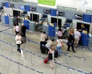 check in op vliegveld